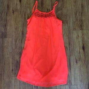 Sequin Hearts neon pink dress
